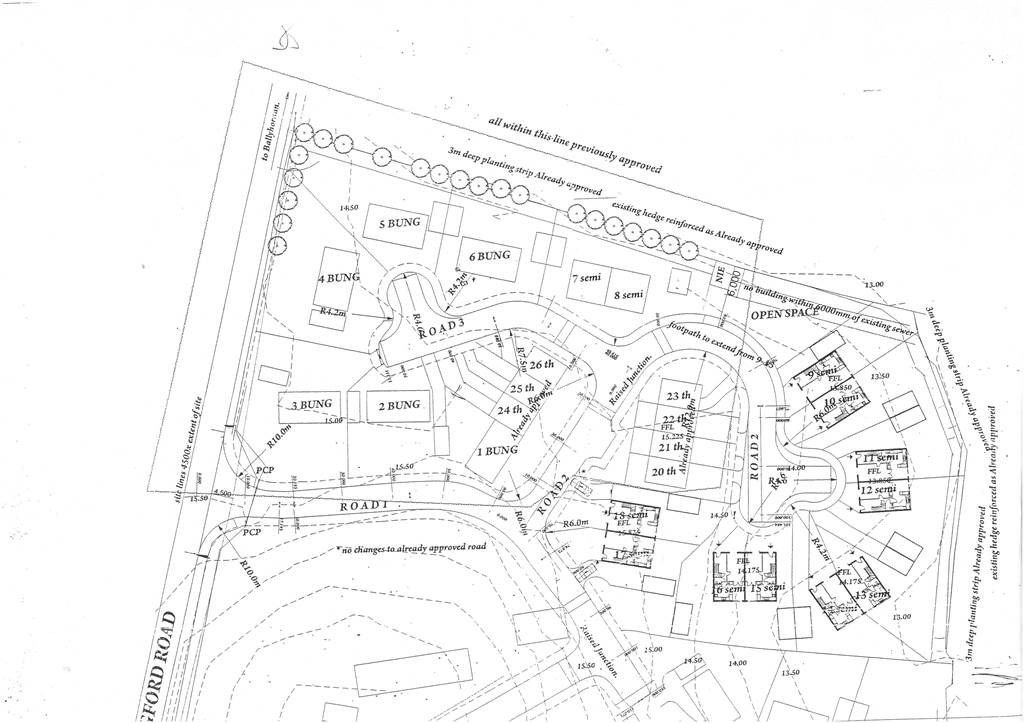 FULLY SERVICED DEVELOPMENT SITE FOR 21 UNITS WITH PLANNING PERMISSION  Ardglass Road